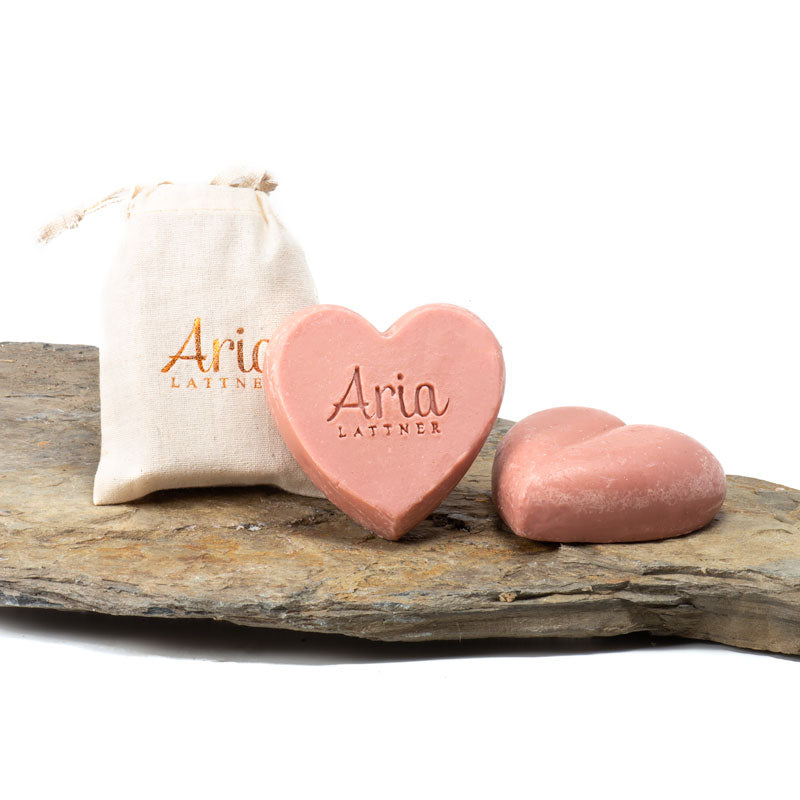 Organic Rose Clay Heart Probiotic Soap