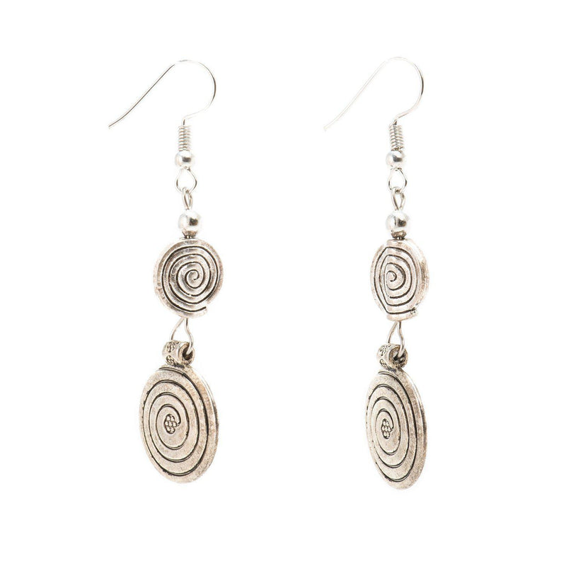 Spiral Jetty Earrings-Earrings-Aria Lattner