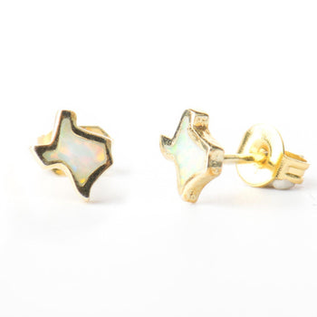 Texas Opal Studs-Earrings-Aria Lattner