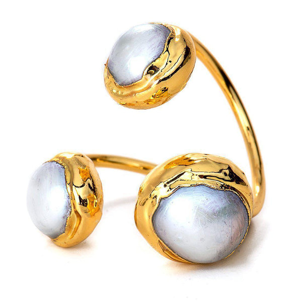 Trinity Ring (Pearl)-Ring-Aria Lattner