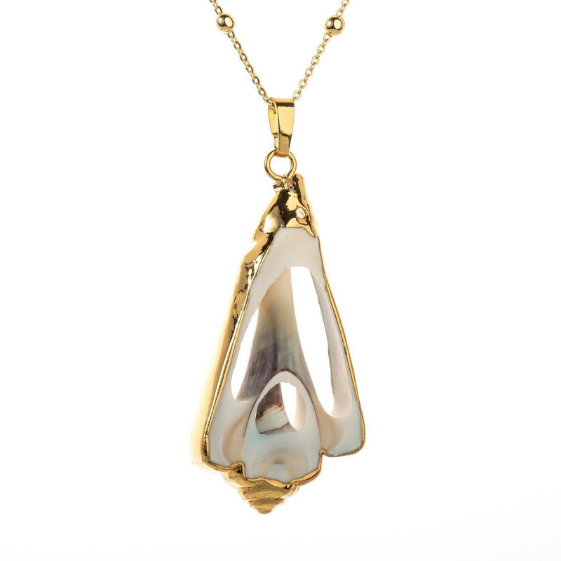 Tulip Sea Shell Necklace-Necklace-Aria Lattner