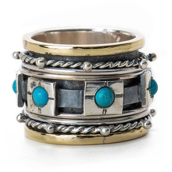 Turquoise Spinner Meditation Ring-Ring-Aria Lattner