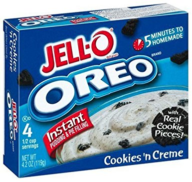 Jell-O Instant Pudding Oreo Cookies 'n Creme (119g)