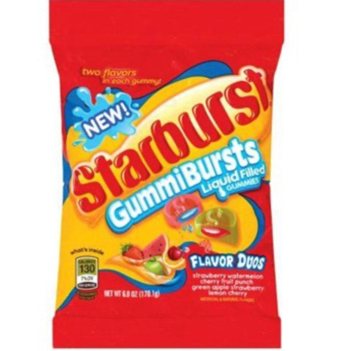 Starburst Gummi Bursts Duo's Peg Bag (170g)