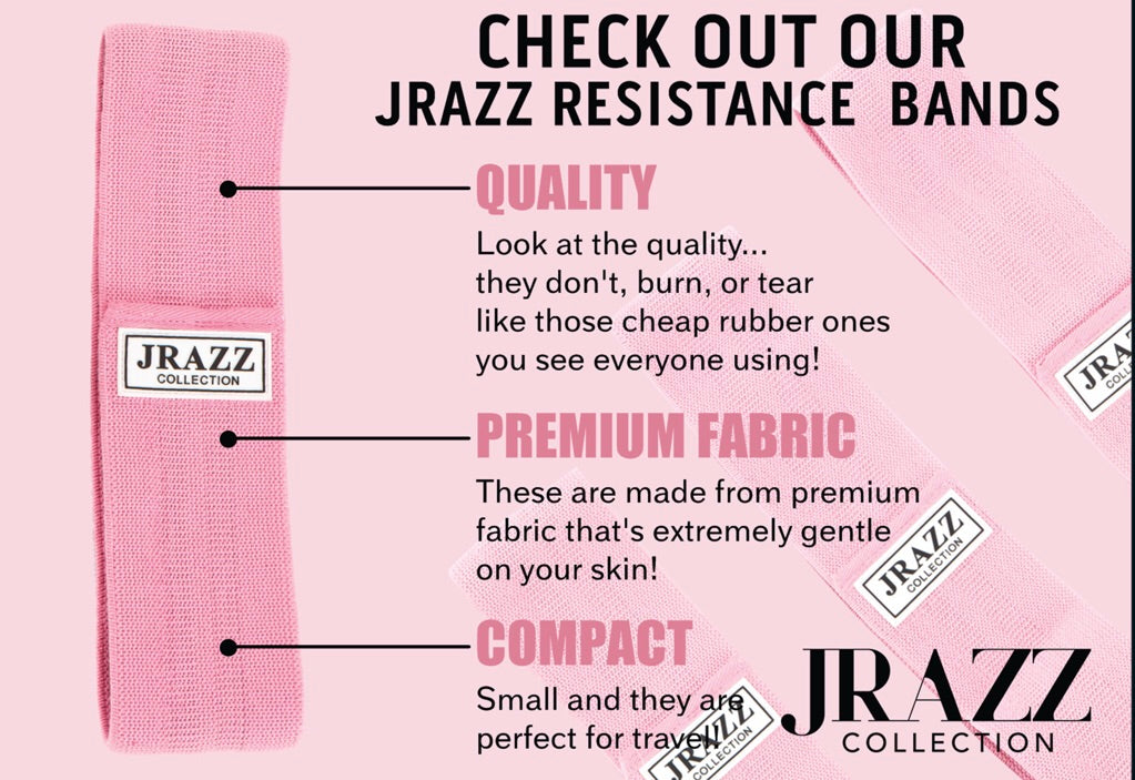 JRAZZ RESISTANCE BANDS PINK PLEASE SELECT A SIZE