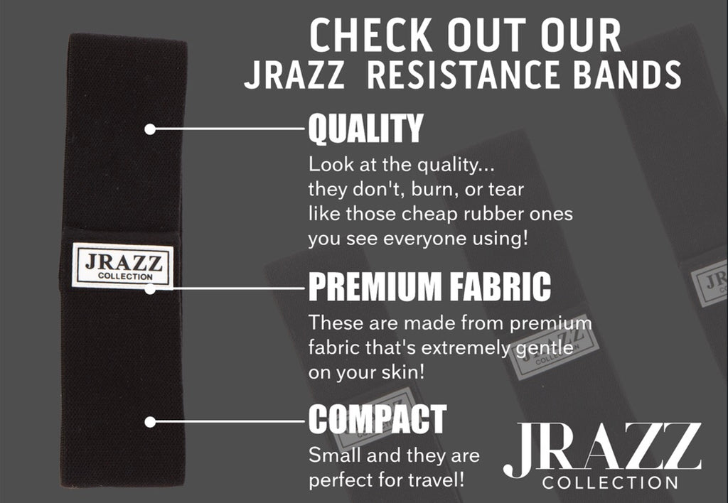 JRAZZ RESISTANCE BANDS BLACK PLEASE SELECT A SIZE