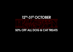 Halloween Special | 50% OFF ALL DOG & CAT TREATS