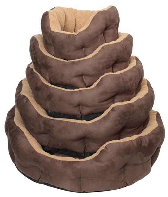 Beige Suede Sheepskin Dog Bed (Size Varieties) - Dog Accessories - Browns Pet Range