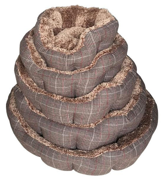 BRAND NEW Canvas Brown Check (Size Variants) - Dog Accessories - Browns Pet Range