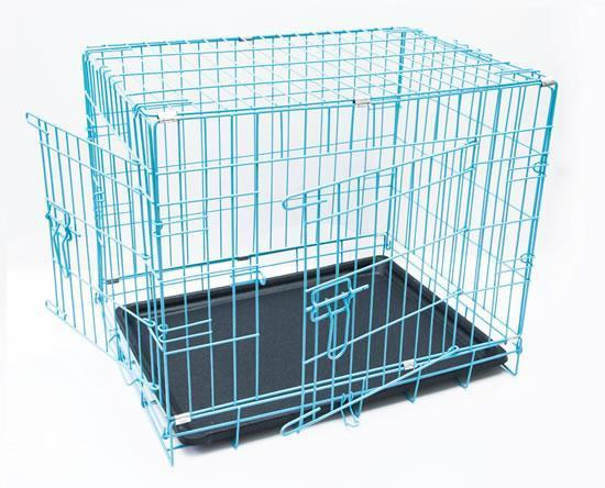 BRAND NEW Puppy Crate (Blue) - Dog Accessories - Browns Pet Range