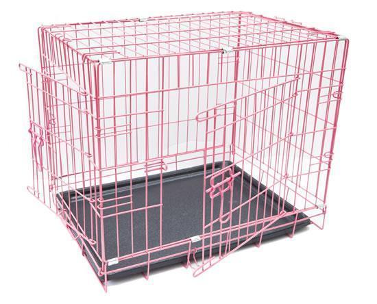BRAND NEW Puppy Crate (Pink) - Dog Accessories - Browns Pet Range