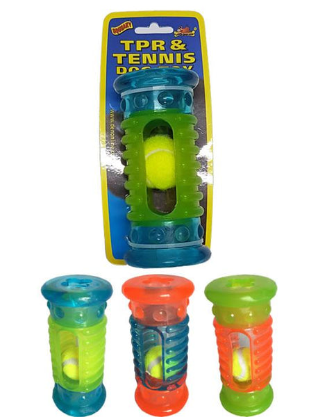 Brand New Rubber Tube Toy & Tennis Ball - Dog Toys - Browns Pet Range