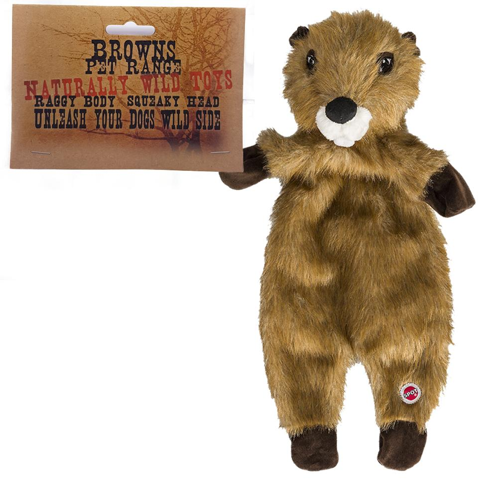 Brown's Baby Beaver | Naturally Wild | Plush Dog Toy | 12 Inch - Dog Toys - Browns Pet Range