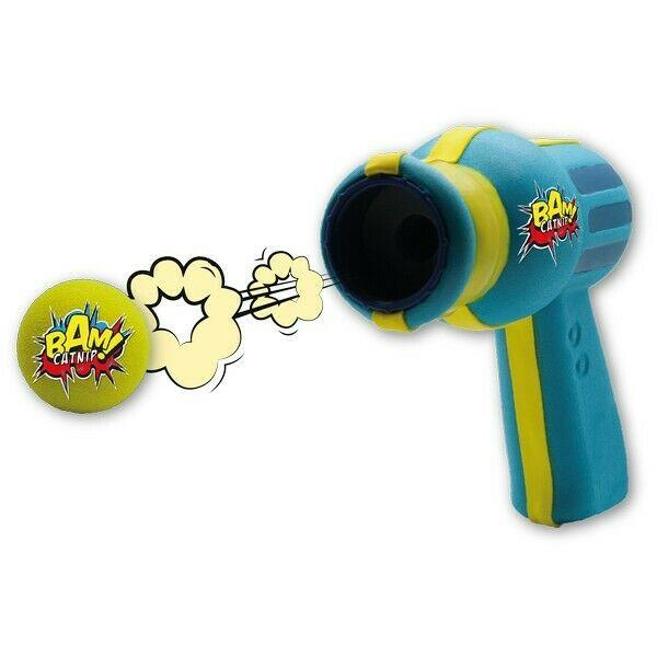 Brown's Cat | Bam! Catnip Space Ball Blaster | Blue and Yellow -  - Browns Pet Range