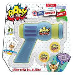 Brown's Cat | Bam! Catnip Space Ball Blaster | Blue and Yellow