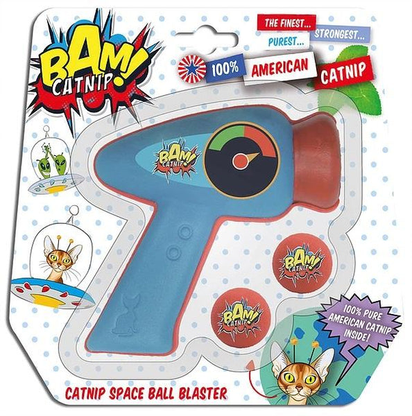 Brown's Cat | Bam! Catnip Space Ball Blaster | Red and Blue -  - Browns Pet Range