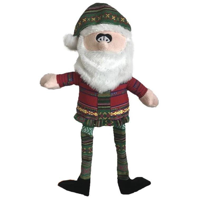 Brown's Christmas | Shabby Santa with Squeaker - Dog Toys - Browns Pet Range