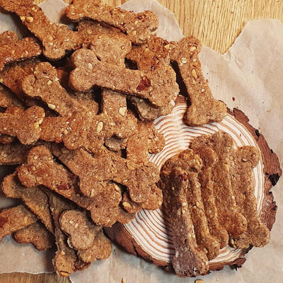 Brown's Doggy Bakery | Homemade Naturally Rustic Bacon Bone Cookies - Doggy Cookies - Browns Pet Range