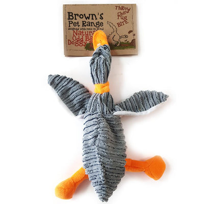 Brown's Natural Odd Balls | Dappy Duck | 13 inch Plush Toy - Dog Toys - Browns Pet Range