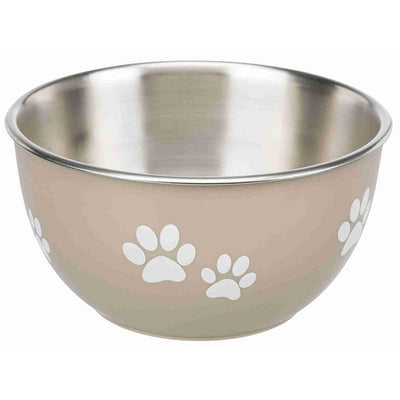 Brown's Pet Bowl | Stainless Steel Bowl with Storage Lid - Beige - Dog Accessories - Browns Pet Range