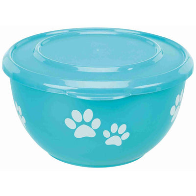 Brown's Pet Bowl | Stainless Steel Bowl with Storage Lid - Blue - Dog Accessories - Browns Pet Range