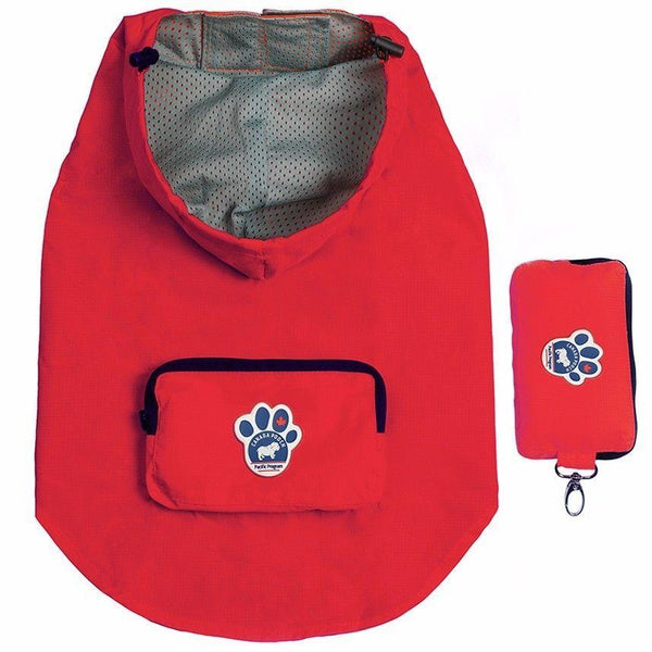 Canada Pooch Pacific Poncho Red SIZE 10 - Dog Coat - Browns Pet Range