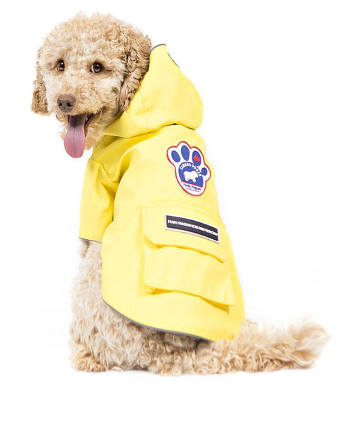 Canada Pooch Pacific Poncho Yellow SIZE 10 - Dog Coat - Browns Pet Range