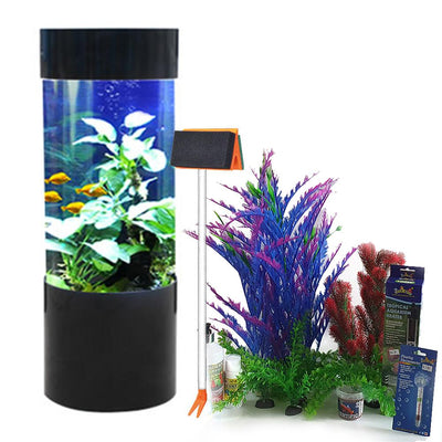 Column Expedition Tank | Acrylic Aquarium | 80L | Black | With Free Starter Set - Fish Tank - Browns Pet Range