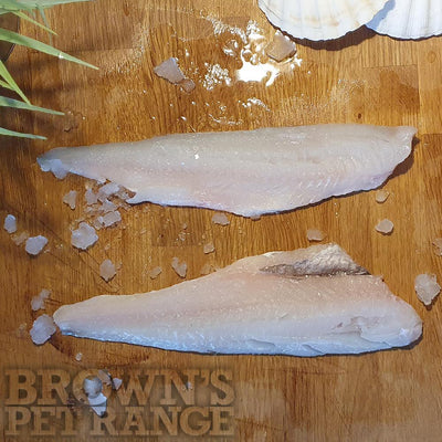 Complementary Raw Dog Food | Frozen Whiting Fillets 370g - Bones and Raw Food - Browns Pet Range