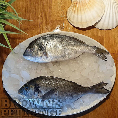 Complementary Raw Dog Food | Frozen Whole Bream 1kg - Bones and Raw Food - Browns Pet Range