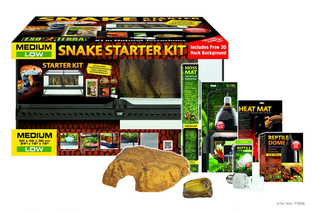Exo Terra Snake Kit Terrarium - Reptile Vivariums - Browns Pet Range