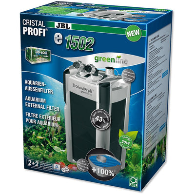 JBL CristalProfi e1502 Greenline | External filter for aquariums from 200 - 700 litres - External Filter - Browns Pet Range