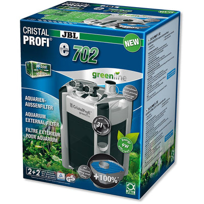 JBL CristalProfi e702 Greenline | External filter for aquariums from 60 - 200 litres - External Filter - Browns Pet Range