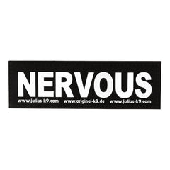Julius K9 | Velcro Nervous Dog | Harness Sticker