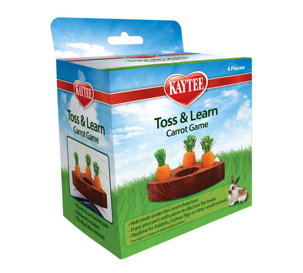 Kaytee Carrot Toss & Learn Game - Small Animal Ball - Browns Pet Range