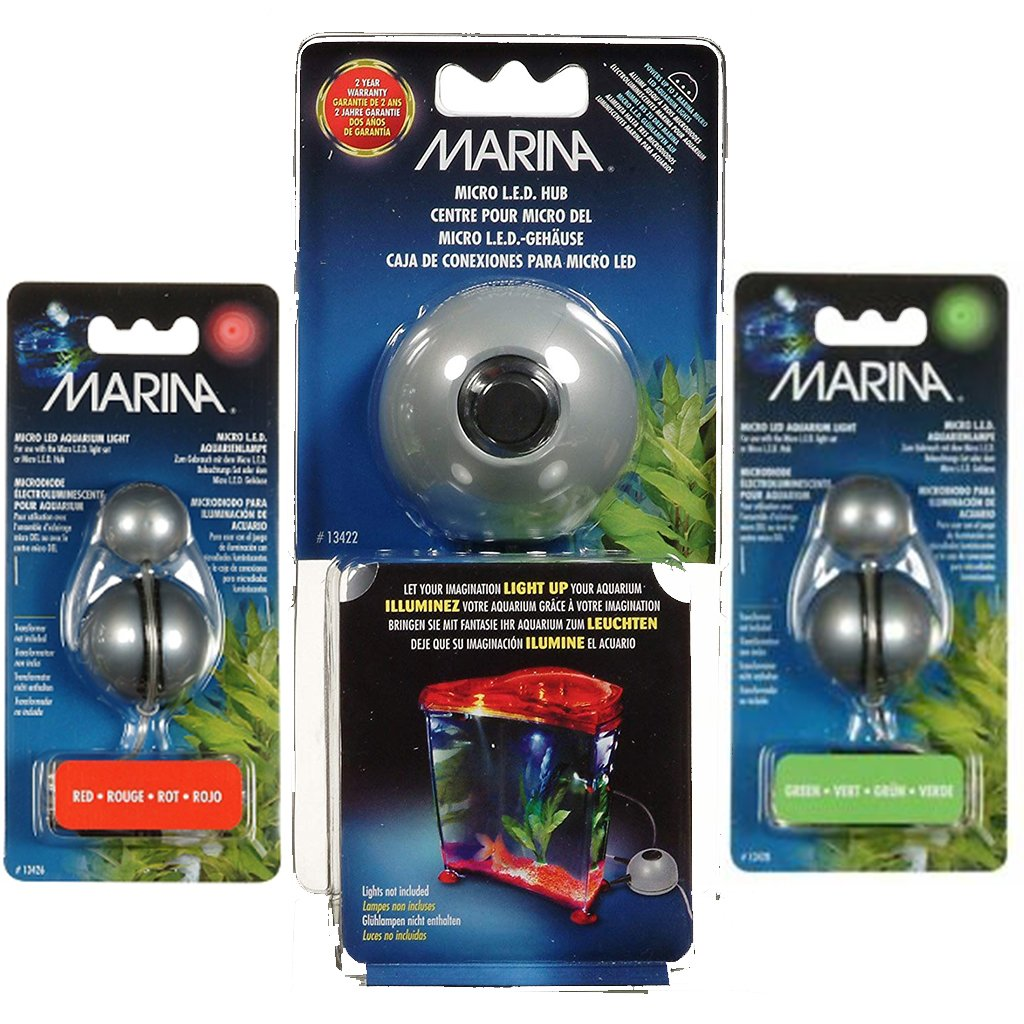 Marina Micro LED Light Set - HUB Plus Red & Green Lights (UNDERWATER) -  - Browns Pet Range