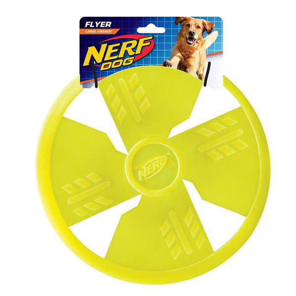Nerf Dog 10 inch Nylon Long Range Flyer Frisbee Green - Dog Toys - Browns Pet Range