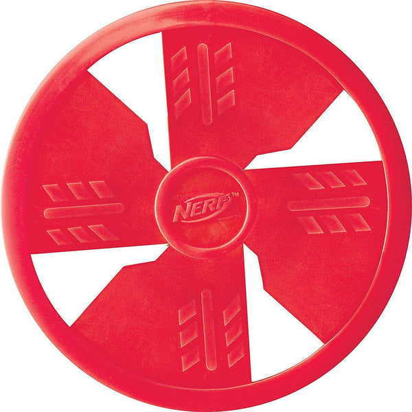 Nerf Dog 10 inch Nylon Long Range Flyer Frisbee Red - Dog Toys - Browns Pet Range