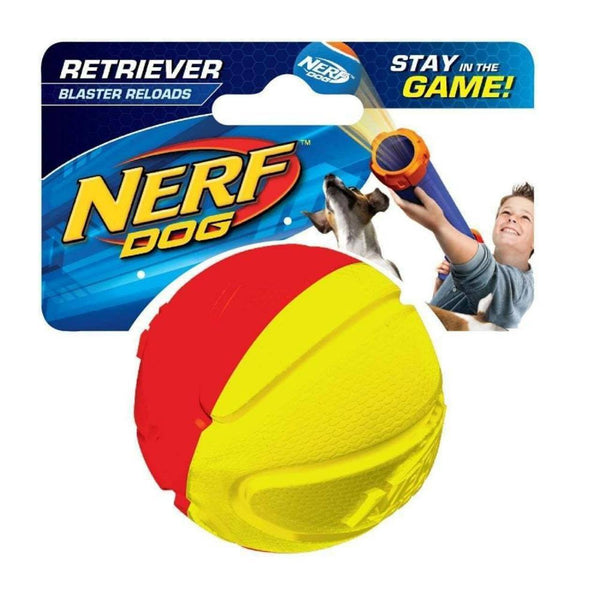 NEW NERF Dog Heavy Duty Squeaker Retriever Ball - 1 pack - Dog Toys - Browns Pet Range
