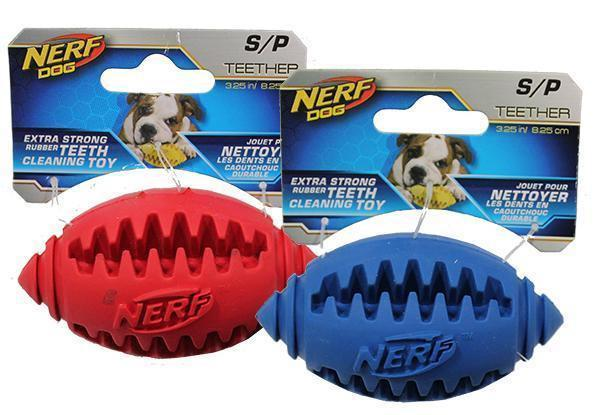 NERF Dog Teether American Football - Dog Toys - Browns Pet Range