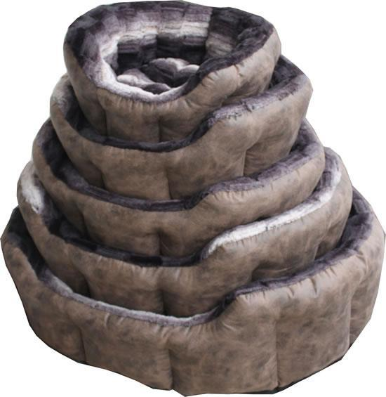 NEW Brown Faux Fur Dog Bed (Size Varieties) - Dog Accessories - Browns Pet Range