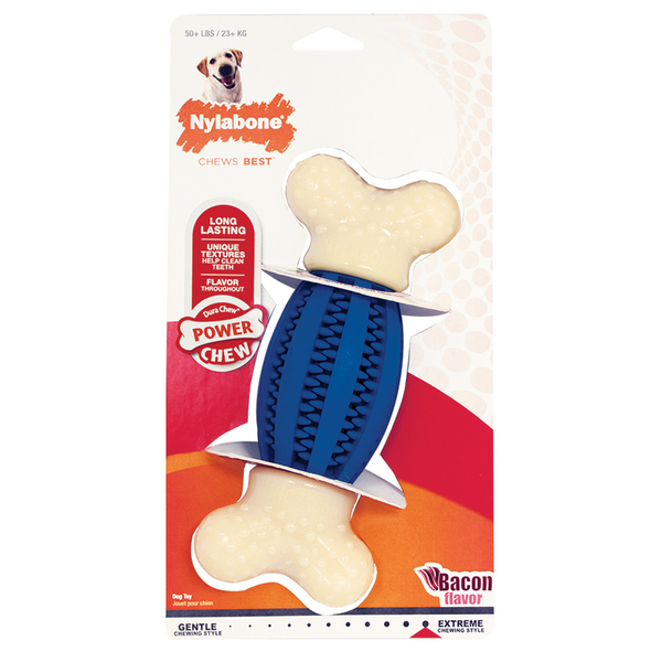 Nylabone Power Chew Double Action Football Chew Toy