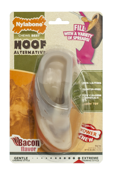 Nylabone Power Chew Hoof Alternative Chew Toy, Bacon