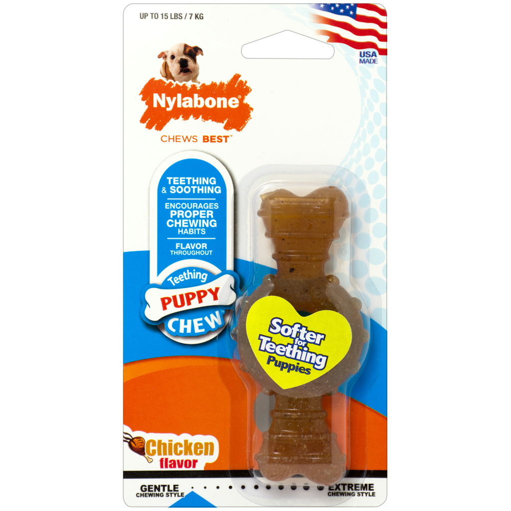 Nylabone Puppy Chew Power Chew Textured Ring Bone