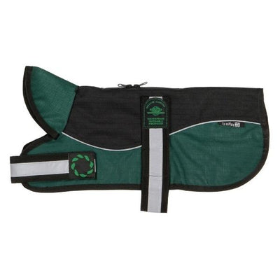 "Reflective Un-Padded Harness Dog Coat | Black & Green | Size 12"" & 14"" - Dog Coat - Browns Pet Range"