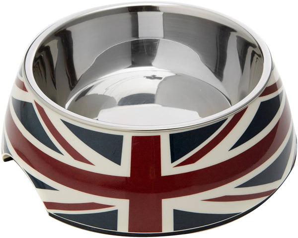 Union Jack 2 bowls in 1 for Dog's or Cat's - Dog Accessories - Browns Pet Range