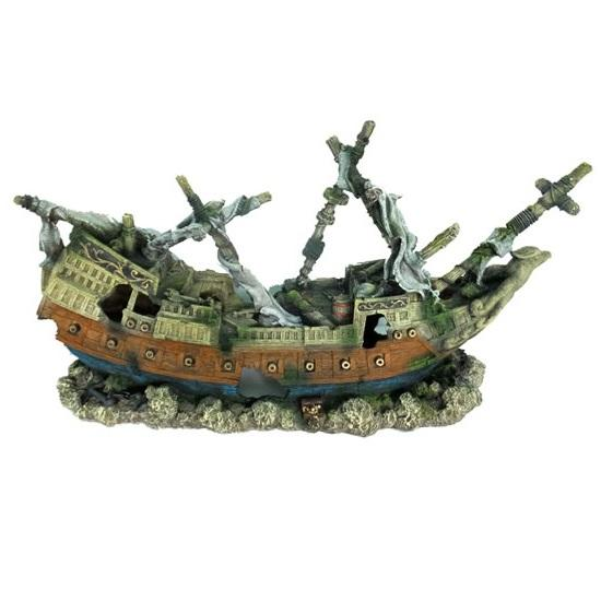 Wrecked Warship Aquarium Ornament -  - Browns Pet Range