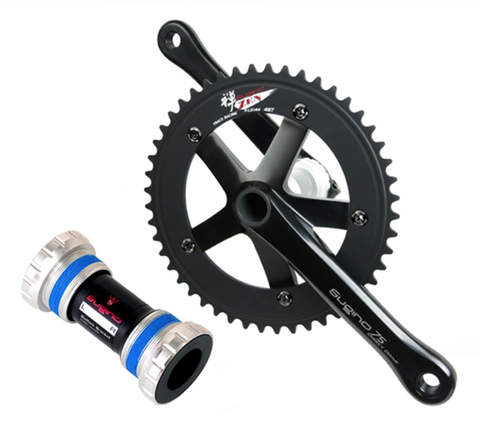 Sugino 75 Direct Drive Crankset 165mm Black 48t