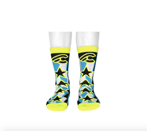 Cinelli Accessories,SGV Recommended Brands XS-S / Black / Yellow Cinelli Star Socks