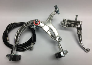 Dia Compe Components Chrome / Front Old School BMX Brake Set Bike MX Brake Set Lever Cable Caliper Chrome